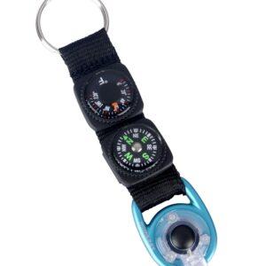 Sleutelhanger met kompas/thermometer/verlichting