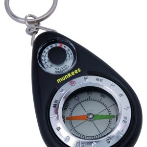 Sleutelhanger met kompas + thermometer